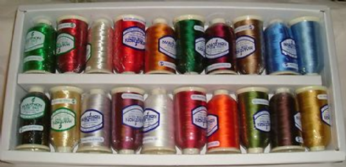 Marathon Embroidery Machine RAYON Thread Box of 20 x 1000mtr Reels XMAS SELECTION